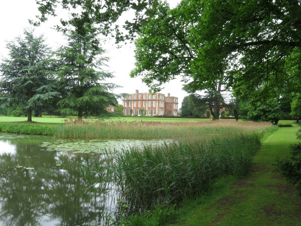 A view of Chicheley Hall.