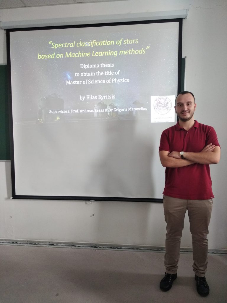 Elias Kyritsis on the day of his MSc, defense.