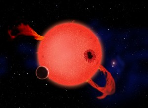 Artist's impression of a rocky planet orbiting a red dwarf. Credit: David A. Aguilar (CfA)